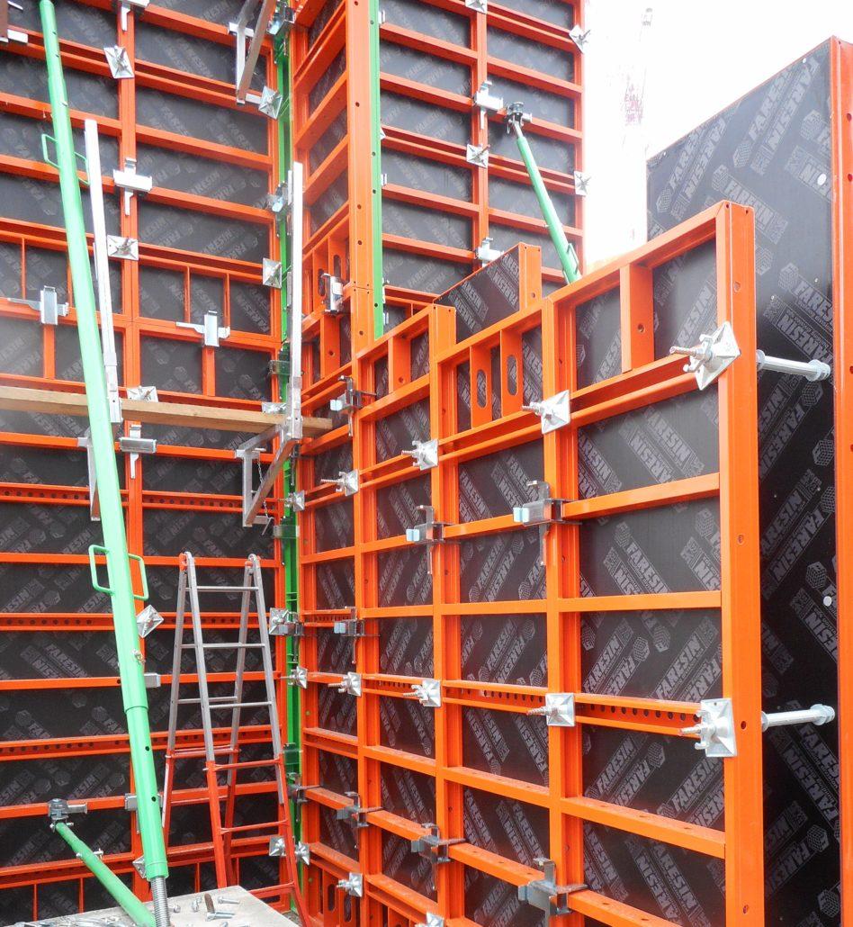 Coffrages pour murs - Coffrage beton mur -2